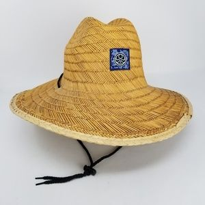 Peter Grimm Natural Fiber Straw Wide Brim Hat OS